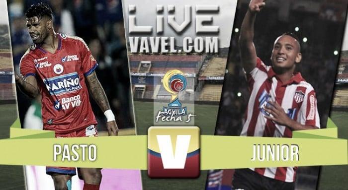 Deportivo Pasto vs Atlético Junior en vivo online por la Liga Águila II-2016 (1-1)