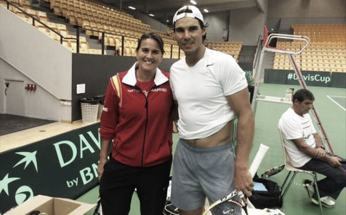 Conchita Martinez: Nishikori was in the toilet for 12 mins because he had a shower
