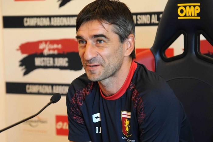 """Genoa, Juric: """"La Lazio è di un altro livello qualitativamente e numericamente"""""""