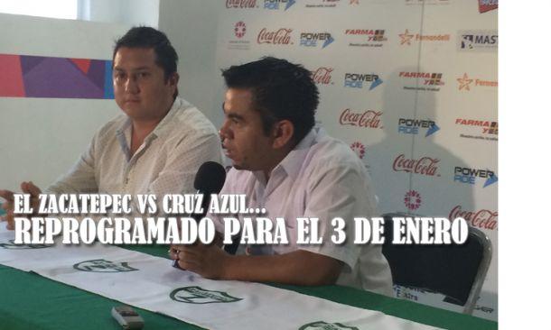 Se pospone el Zacatepec - Cruz Azul