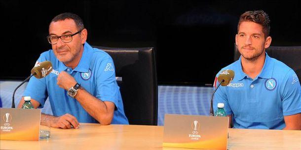 """Sarri: """"Voglio una squadra di personalità. Bruges non facile. Dobbiamo crescere in cattiveria"""""""