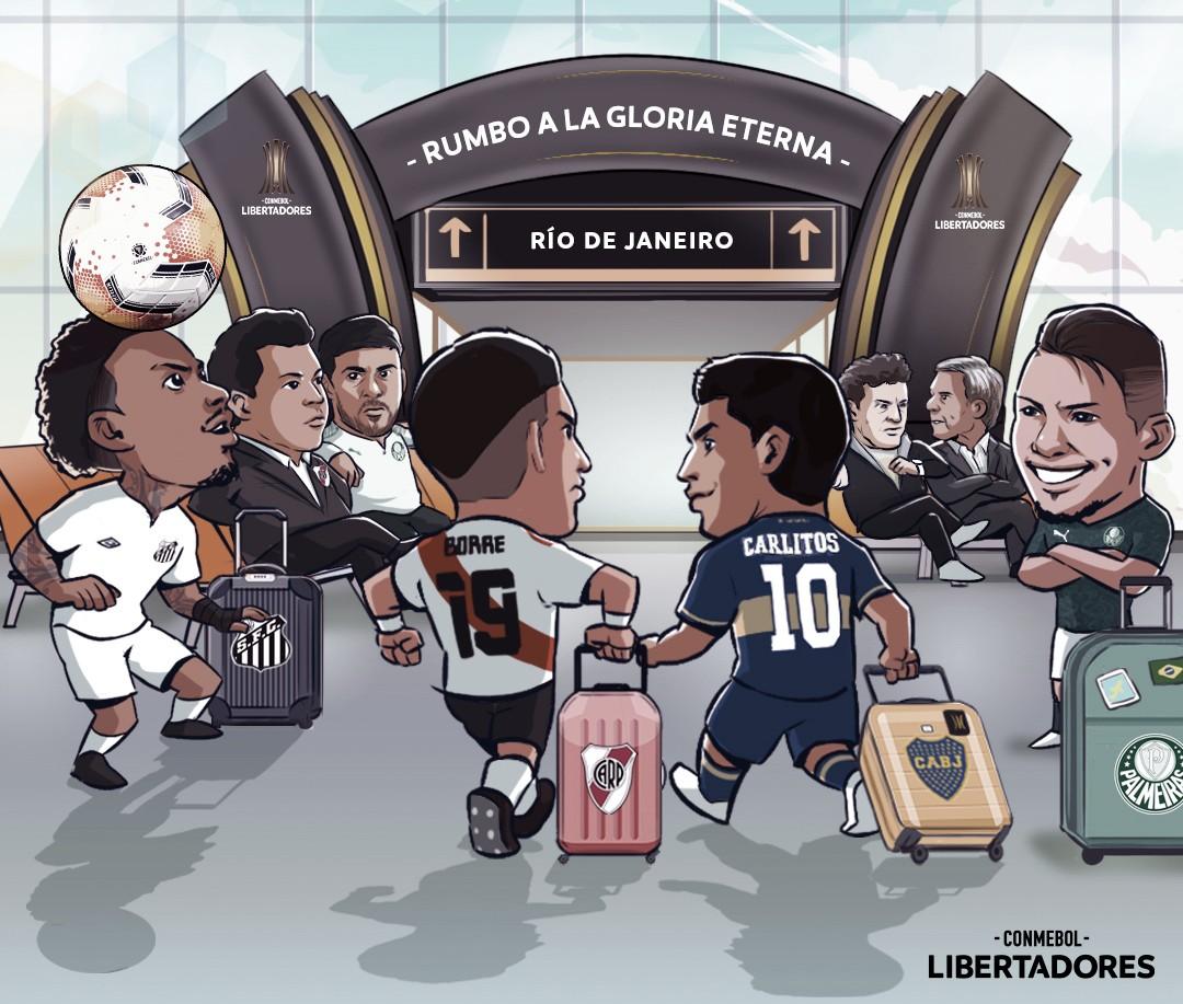 Conmebol causa polêmica em imagem sobre semifinais da Libertadores