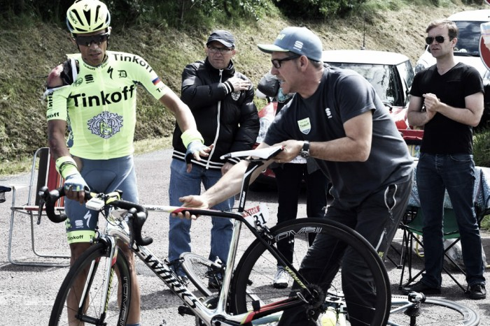 Alberto Contador still optimistic about his Tour chances despite crashing twice