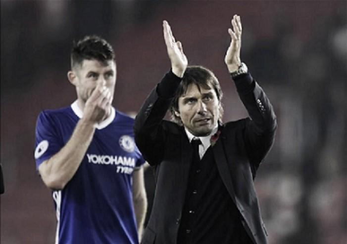 Conte elogia jogo coletivo do Chelsea após vitória contra Southampton