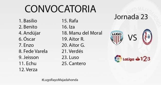 Los convocados del Rayo Majadahonda para viajar a Lugo