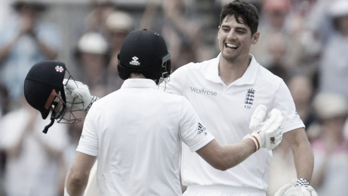 England vs Pakistan Day One: Cook and Root hit centuries to put hosts on top