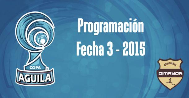 Programación de la tercera fecha de la Copa Águila 2015