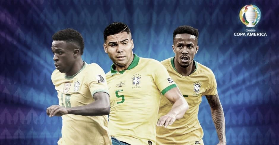 Casemiro, Militao y Vinicius, en la final de la Copa América
