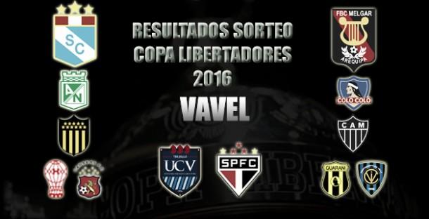 Resultados de peruanos en sorteo de la Copa Libertadores 2016