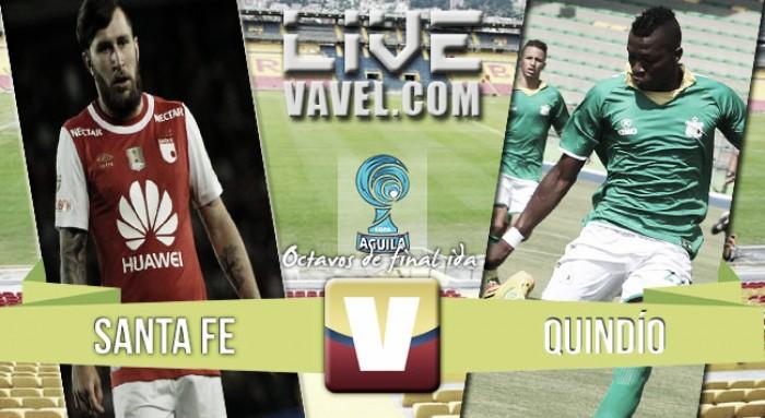 Resultado Independiente Santa Fe 2-1 Deportes Quindío en la Copa Águila 2016