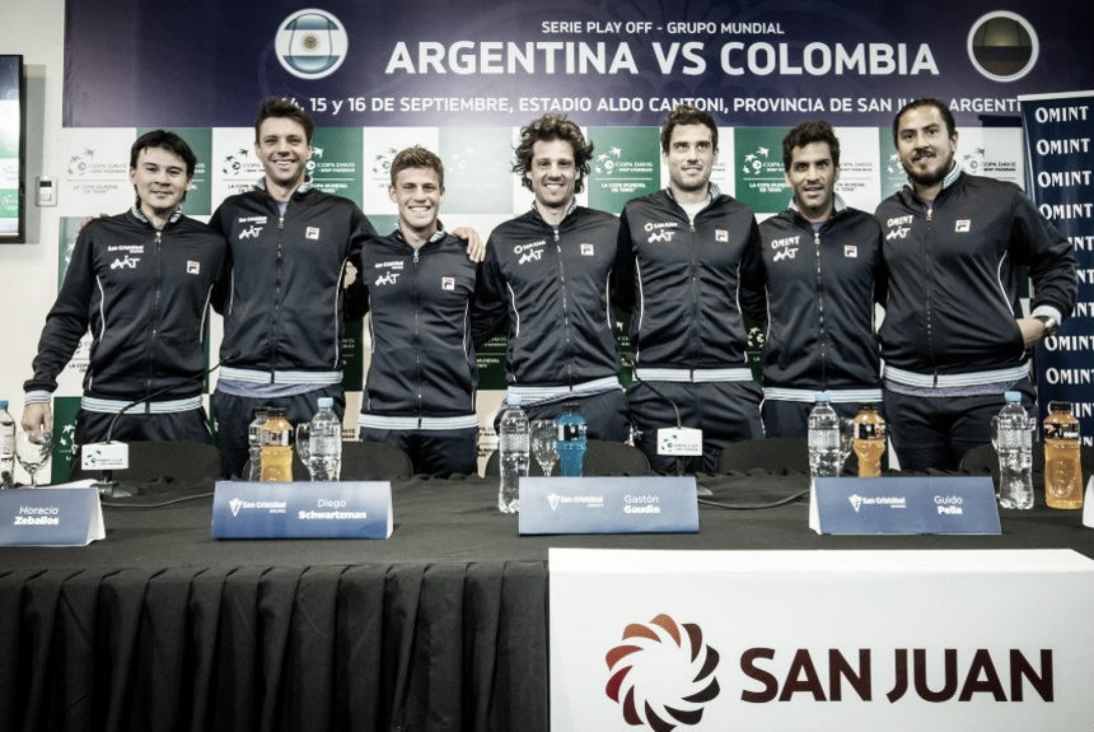 Copa Davis ARG-COL: los cuatro argentinos que dispuso Gaudio