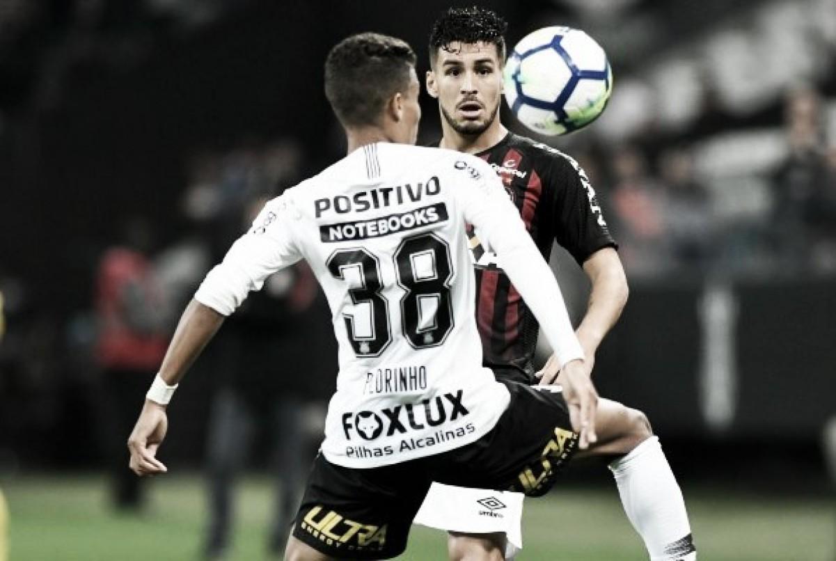 Em jogo pouco movimentado, Corinthians e Atlético-PR empatam sem gols em São Paulo