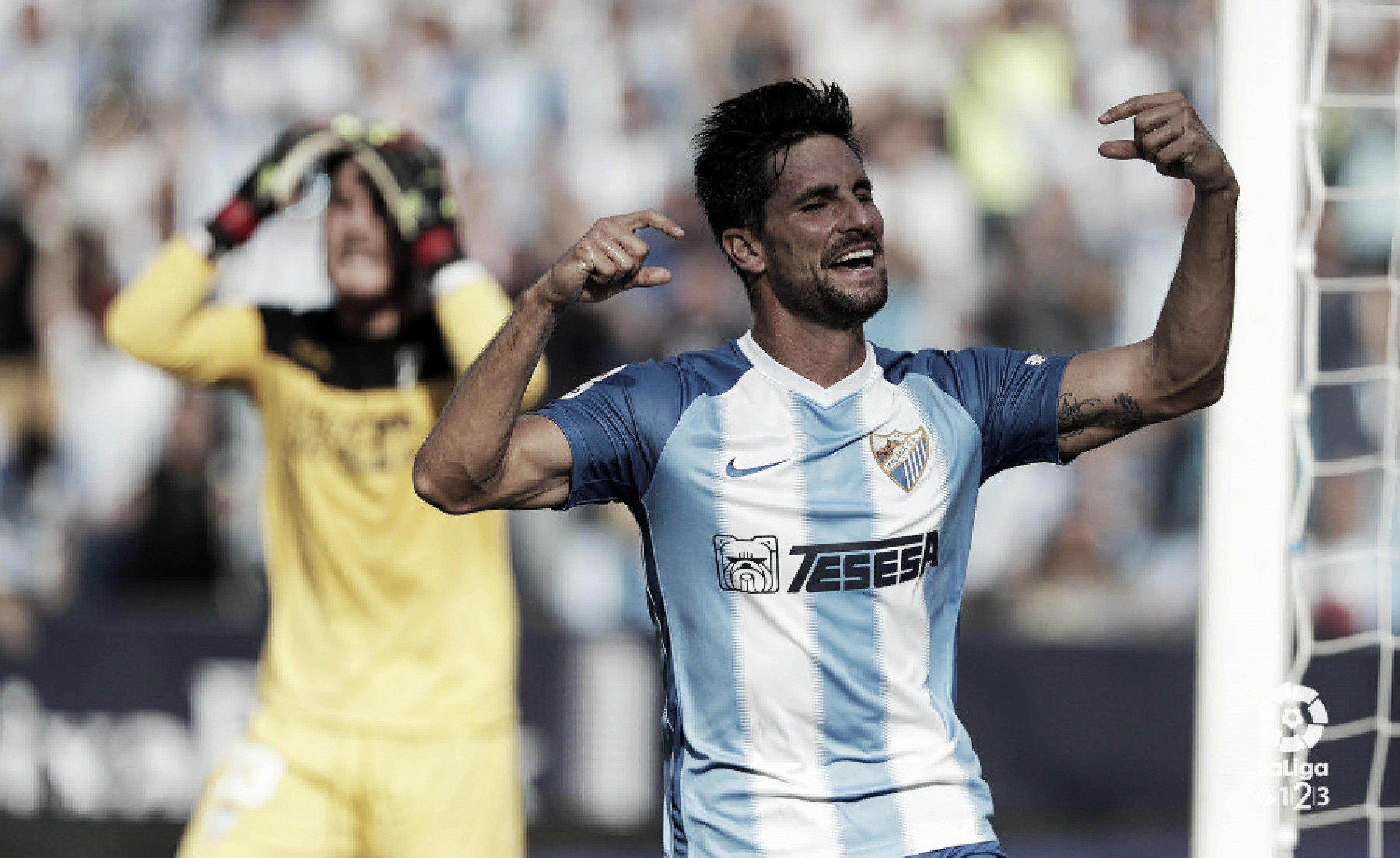 Málaga CF- Córdoba CF, puntuaciones jornada 5 de LaLiga123
