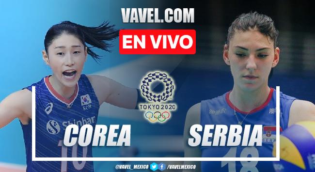 Resumen y mejores momentos del Voleibol femenil Corea del Sur 0-3 Serbia en Tokio 2020