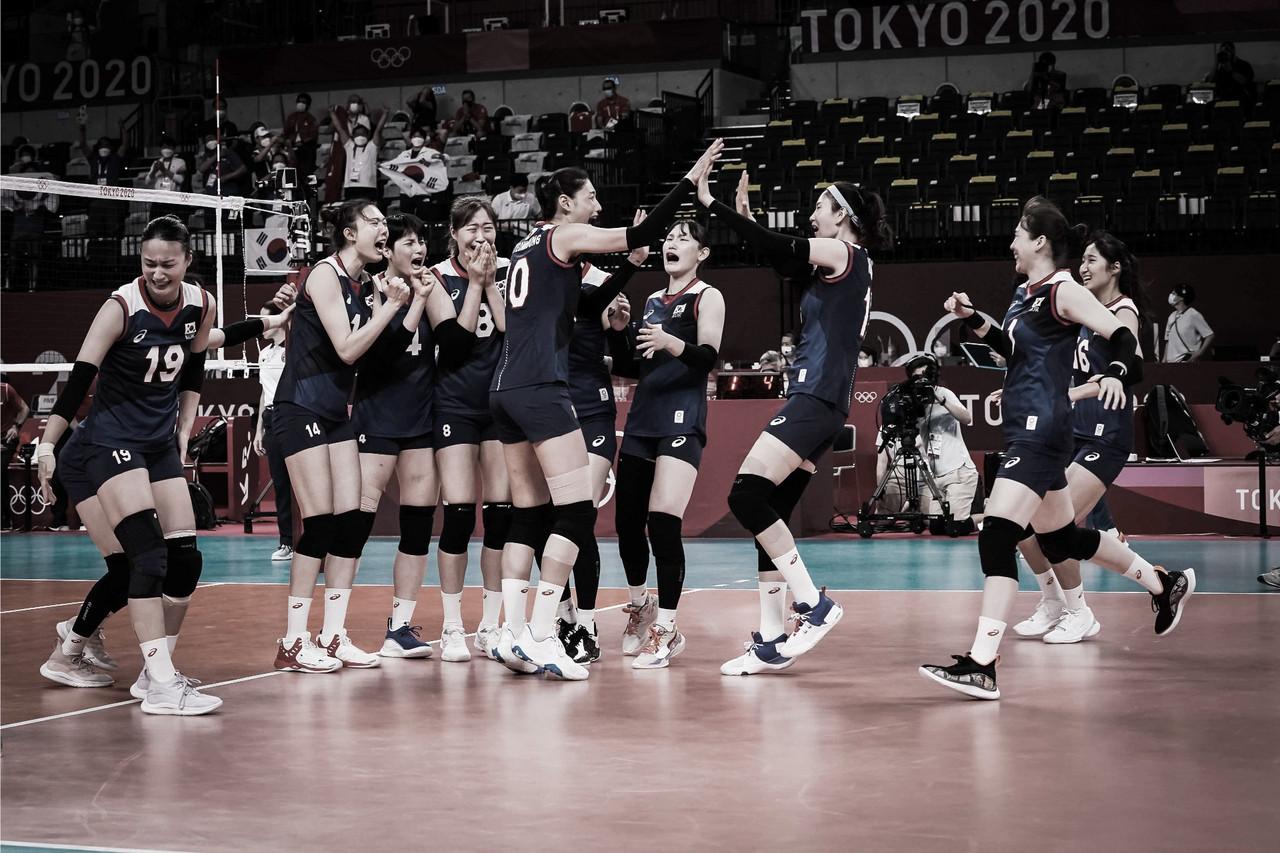 Em jogo equilibrado, Coreia do Sul vence Turquia no tie break e avança no vôlei feminino