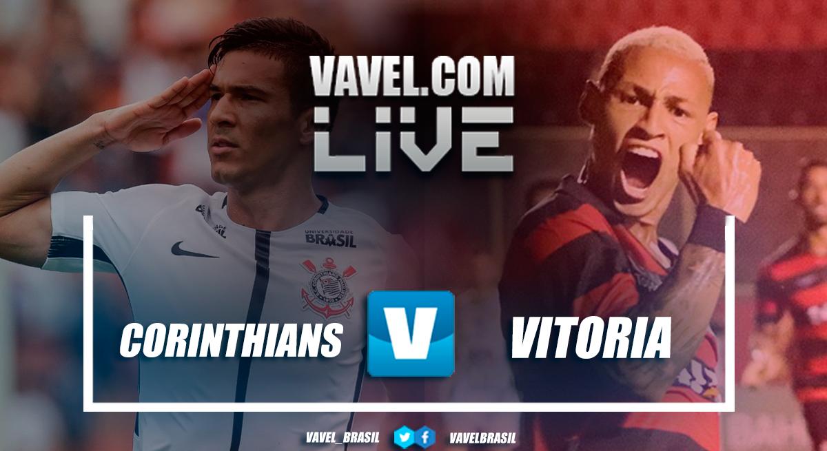 Resultado Corinthians x Vitória hoje pelo Campeonato Brasileiro 2018 (0-0)