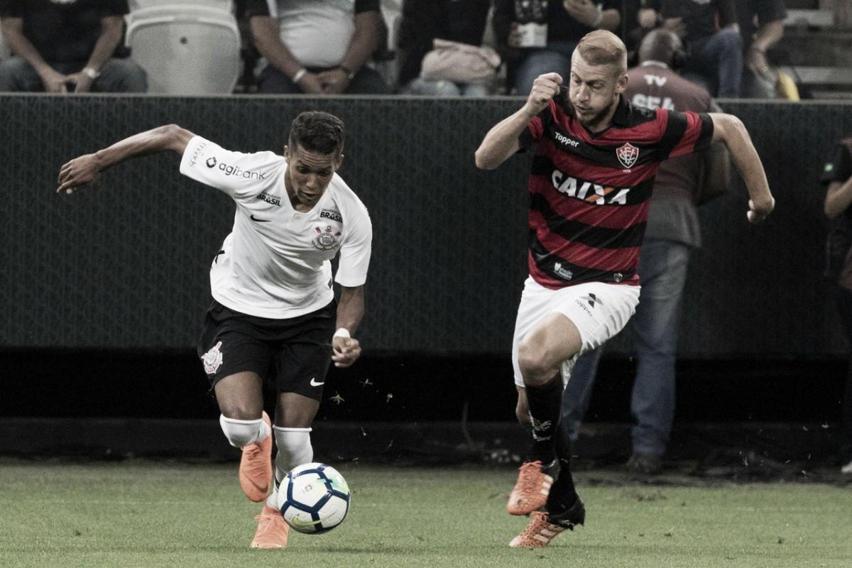Em jogo marcado pela falta de pontaria, Corinthians e Vitória empatam sem gols em São Paulo