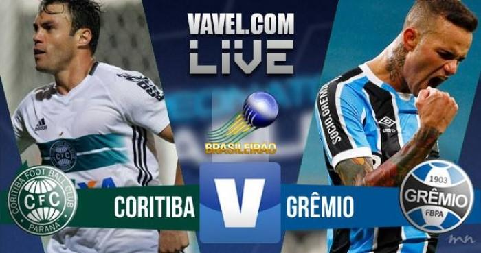 Resultado do jogo entre Coritiba x Grêmio pelo Campeonato Brasileiro 2016 (4-0)