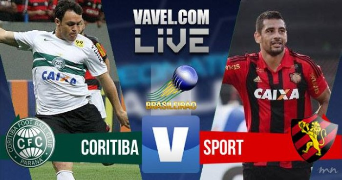 Resultado Coritiba x Sport no Campeonato Brasileiro 2016 (3-2)