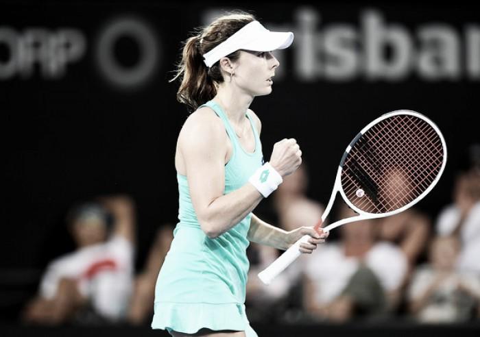 WTA Brisbane: Alize Cornet advances to the second round after Caroline Garcia retires due to back injury