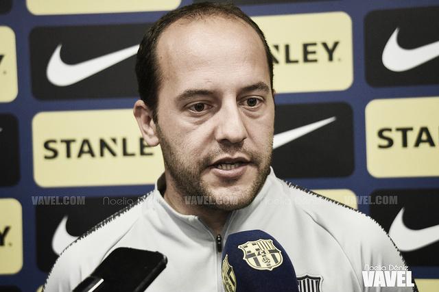 """Lluís Cortés: """"Las jugadoras están contentas con la victoria"""""""