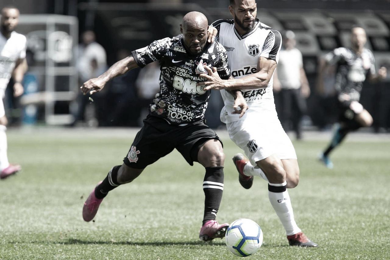 Corinthians sai na frente, mas Ceará consegue empate nos acréscimos com gol olímpico