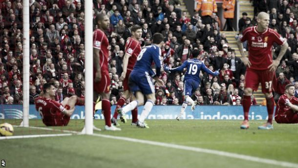 Liverpool 1-2 Chelsea: Costa steals the show as Mourinho's men win again