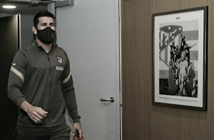 Diego Costa llega al estadio en el encuentro del pasado sábado frente al Barcelona // FOTO: Twitter del Atlético de Madrid