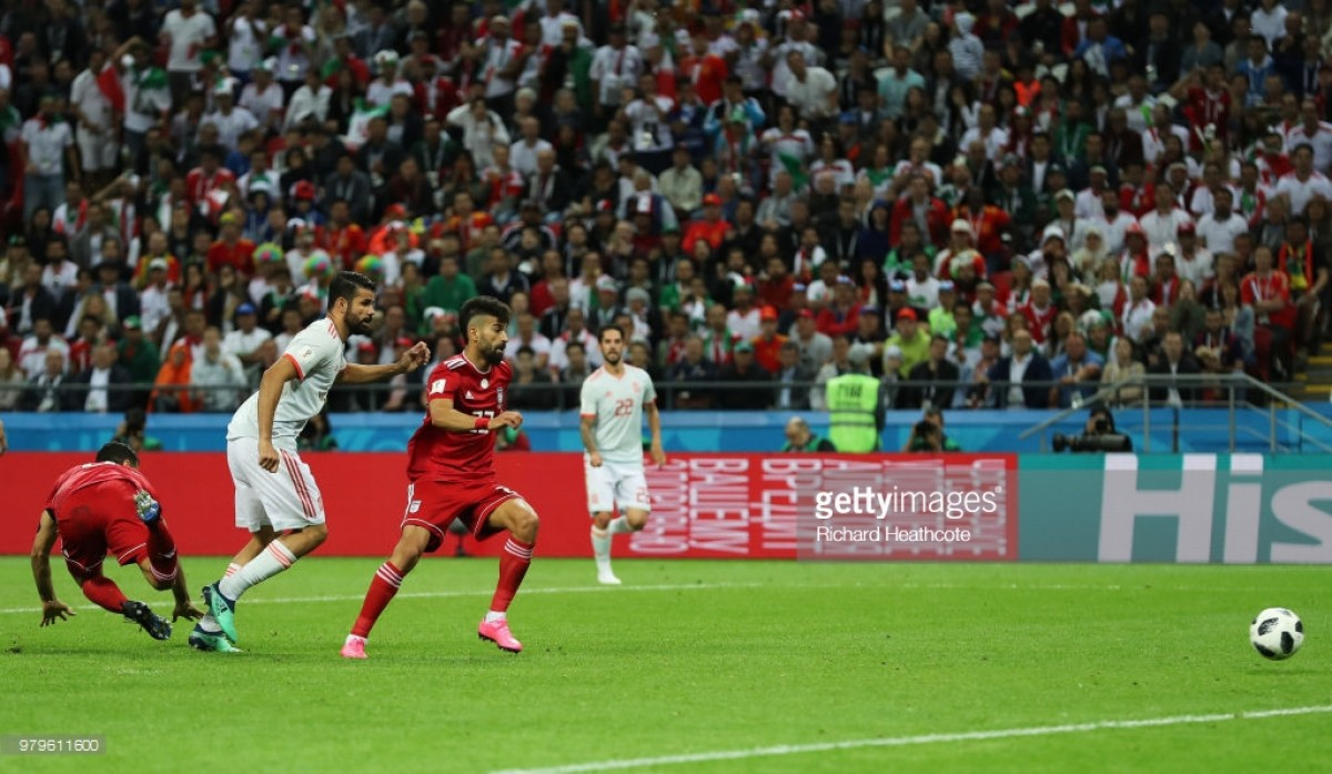 Iran 0-1 Spain: Diego Costa deflection gives favourites hard-fought win