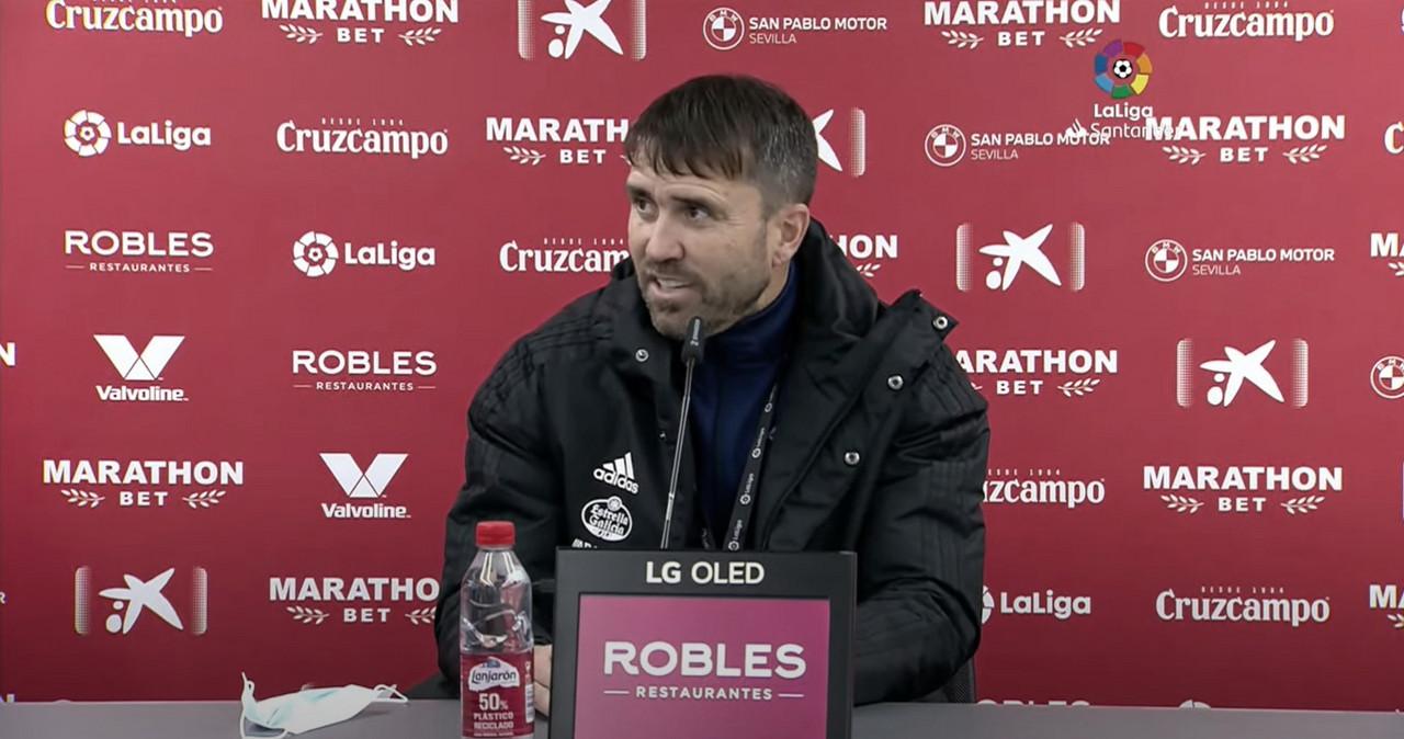 Coudet se mostró satisfecho con la actitud de sus jugadores en el debut como técnico del RC Celta de Vigo | Foto: LaLiga
