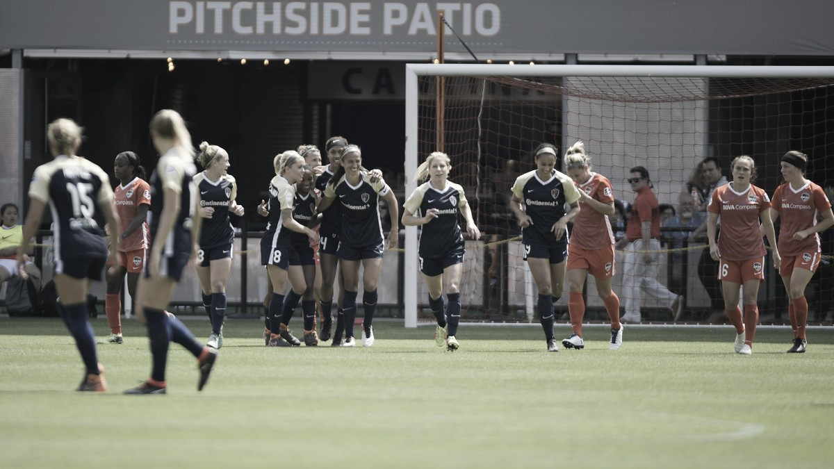 North Carolina Courage remain unbeaten while the Houston Dash remain winless