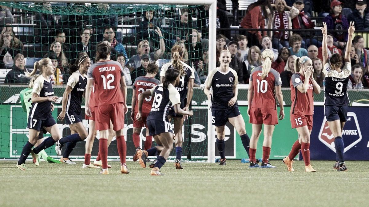 North Carolina Courage thrash Portland Thorns FC 4-1 to continue unbeaten season