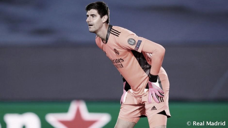 Courtois, jugador más destacado del Real Madrid en febrero