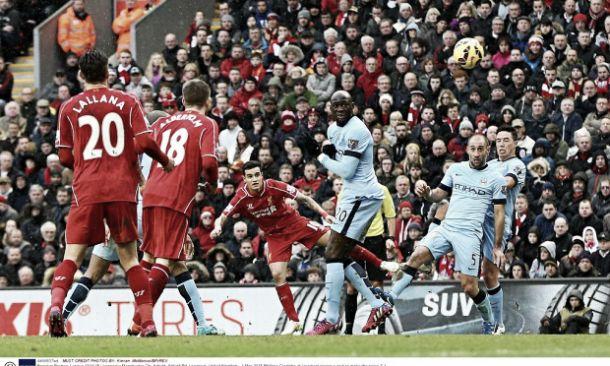 Liverpool vence Manchester City com golaço de Coutinho
