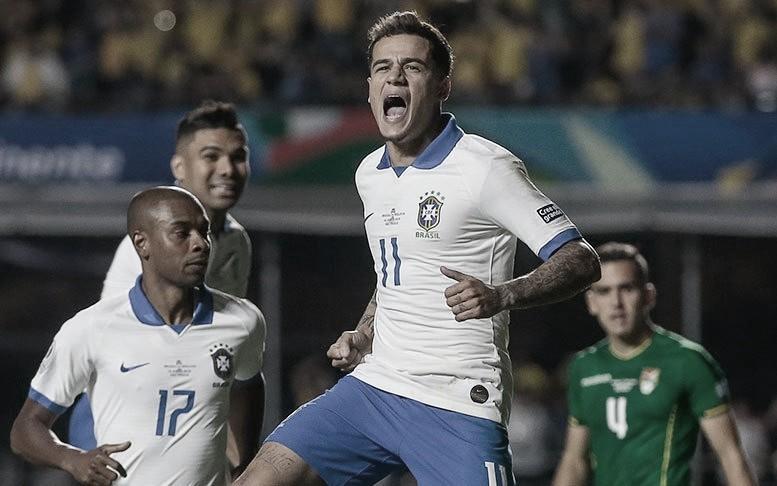 Brasil cumplió ante una débil Bolivia