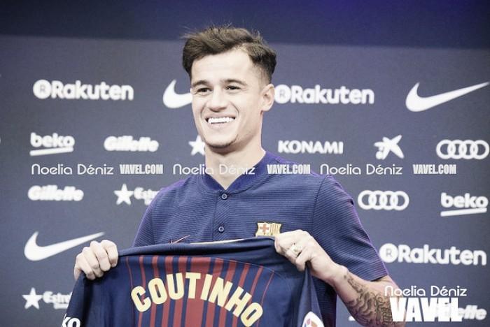 """Apresentado, Philippe Coutinho comemora final feliz no Barcelona: """"Realizo um sonho"""""""