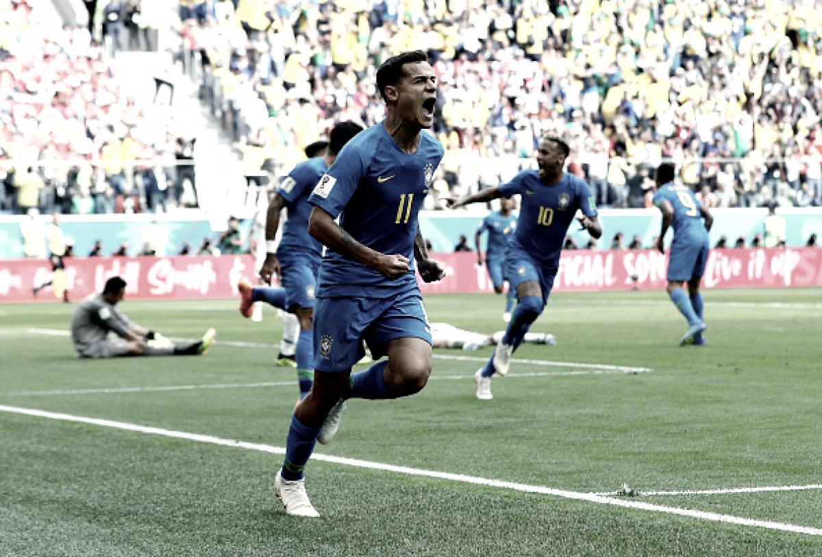 Notas: Coutinho e Thiago Silva são destaques na vitória do Brasil contra Costa Rica