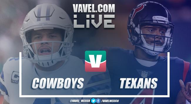 Resultado y Touchdowns del Dallas Cowboys (16-19) Houston Texans