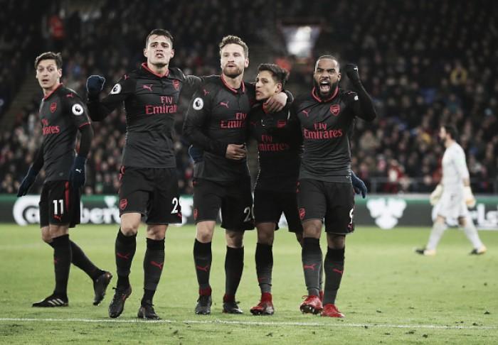 Com final de jogo emocionante, Arsenal supera Crystal Palace e segue vivo na briga pelo G-4
