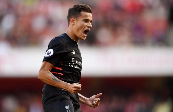 Coutinho fa grande il Liverpool contro un pazzo Arsenal: espugnato l'Emirates, 3-4 il finale