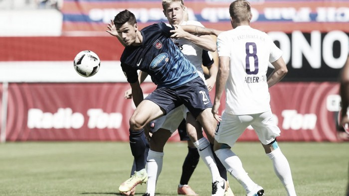 1. FC Heidenheim 1-0 Erzgebirge Aue: Thomalla strike the difference in tight encounter
