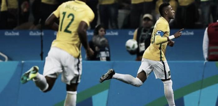 Neymar desencanta, Brasil vence Colômbia e avança às semifinais na Olimpíada