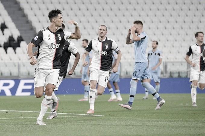 Cristiano Ronaldo marca dois gols, Juventus vence Lazio e está perto do enea