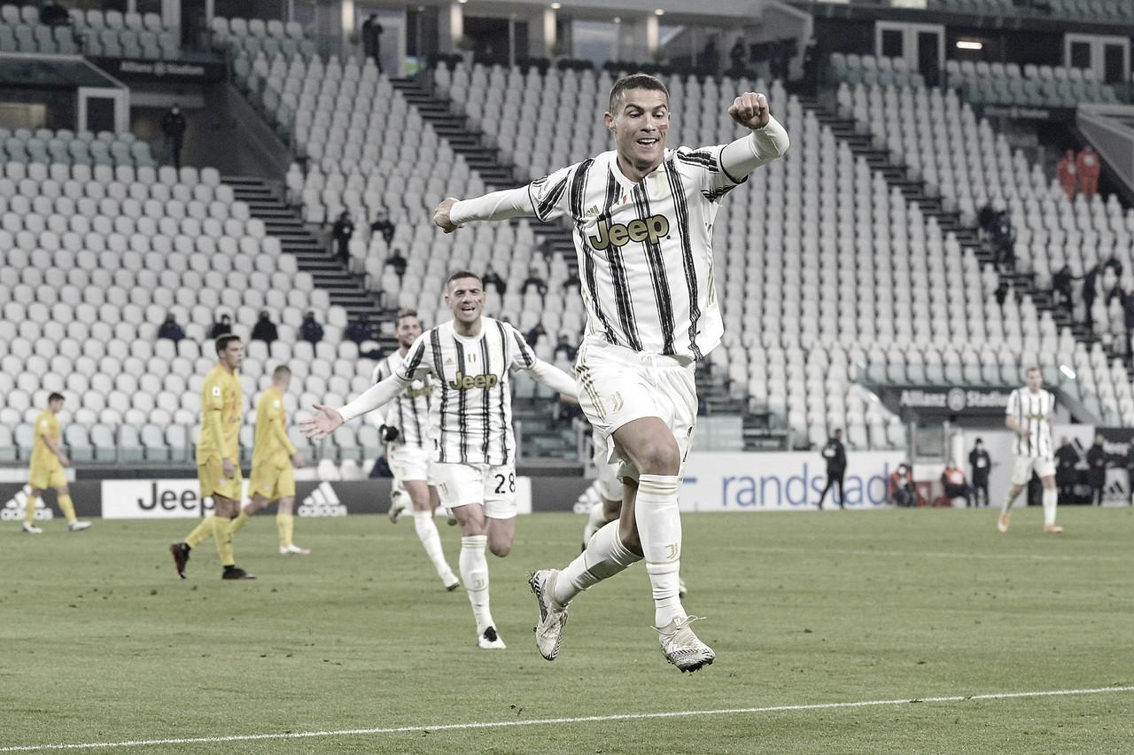 Cristiano Ronaldo em Juventus 2 a 0 no Cagliari (Juventus FC/Divulgação)
