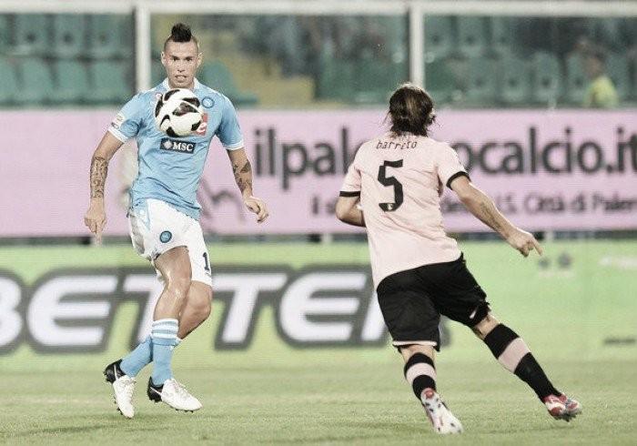 Partita Palermo-Napoli in anticipo terza giornata SERIE A 2016-2017. Hamsik  e 77820958fccb