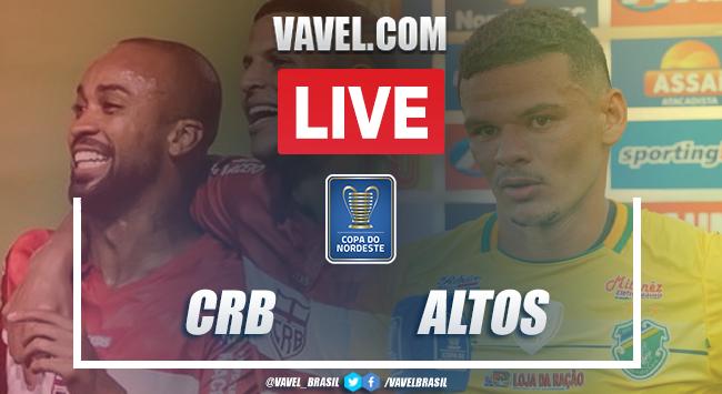 Gols e melhores momentos de CRB 1 x 1 Altos pela Copa do Nordeste