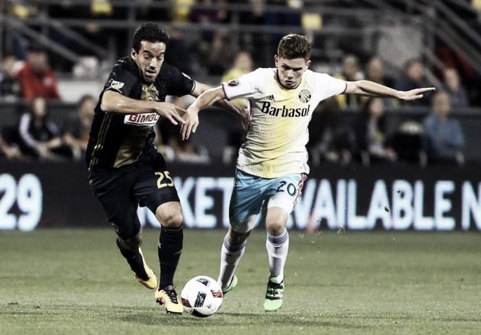 Philadelphia Union take on Columbus Crew before Copa America break