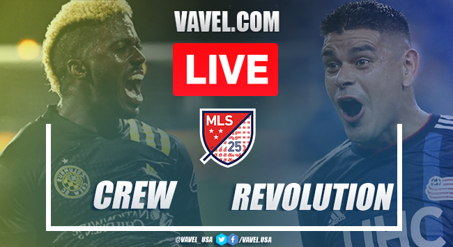 Columbus Crew SC vs New England Revolution: Live Stream Online and Updates (1-0)