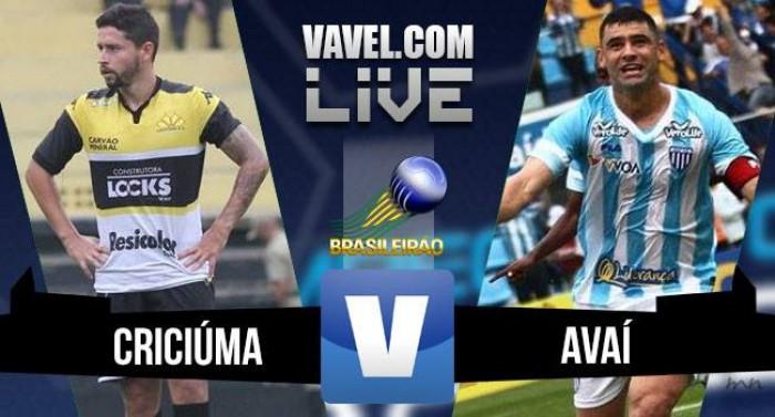 Resultado Criciúma x Avaí na Série B do Campeonato Brasileiro (1-0)