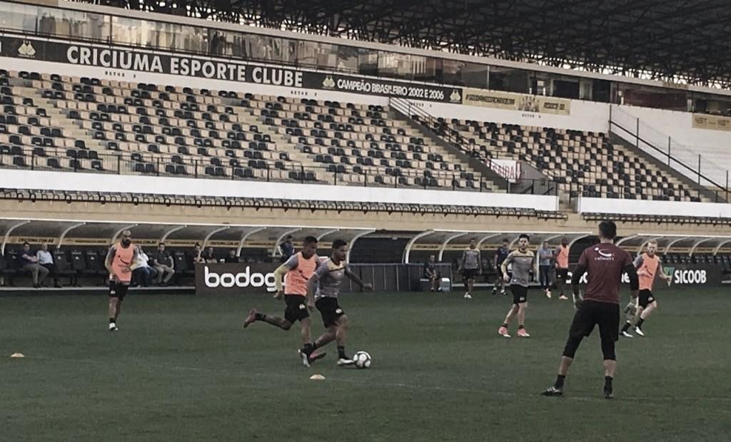 Pressionado e sob comando interino, Criciúma busca recuperação diante do Sport